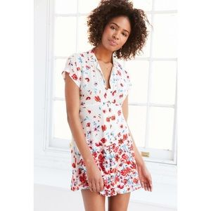 Urban Outfitters Floral Lucy Printed Shirt Dress
